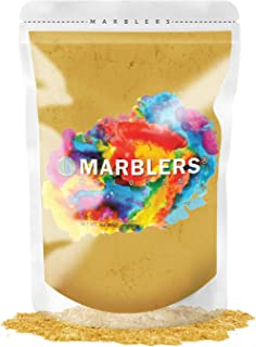 MARBLERS Mica Powder Colorant 3oz (85g) [Bright Gold] | Pearlescent Pigment | Tint | Pure..