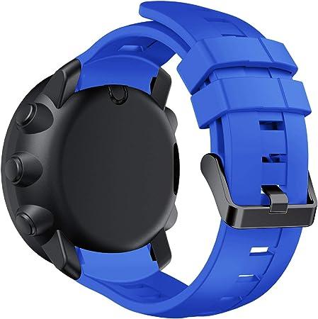 Für Suunto Ambit3 Vertical Armband Classic Ersatz Silikon Armband Bracelet Strap Wrist Band Sportarmband Uhr Band Strap Erstatzband Uhrenarmband Für Suunto Ambit3 Vertical Armband Blau Sport Freizeit
