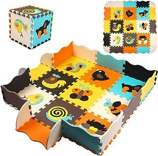 StillCool Alfombra Puzzle para Niños 30*30cm, Puzzle Estera de Juguete de Espuma Sólida, 25 Piezas Grueso (0.47 Pulgadas) para Decoración de la habitación de los niños