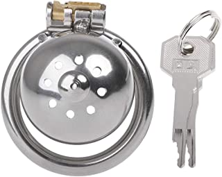 a-YUEYUE 1PC Metal Bird Stainless Steel Male Cage Device Super Small Short Ring, 3 Sizes Optional