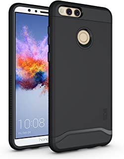 Honor 7X / Mate SE Case, TUDIA Slim-Fit HEAVY DUTY [MERGE] EXTREME Protection / Rugged but Slim Dual Layer Case for Huawei Honor 7X / Mate SE (Matte Black)