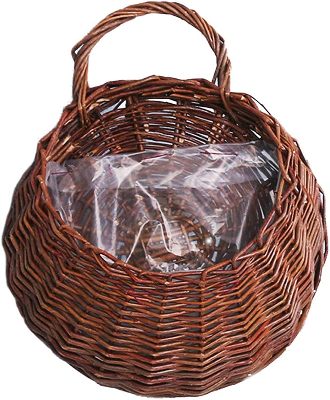 Wicker Basket HandWoven Decorative Woven Wall Hanging Storage Display Basket