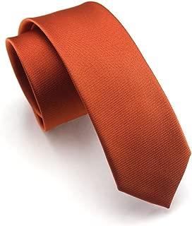 Mens Classic Solid Color Slim Tie, Skinny Woven Thin Ties, Eco-friendly Fashion Boys Neckties