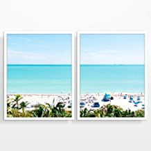 Miami Beach From Above Photography Prints, Set of 2, Unframed, Coastal Wall Decor, Nautical Decor, Fine Art Photography, Seascape Wall Art, Florida Photography, All Sizes