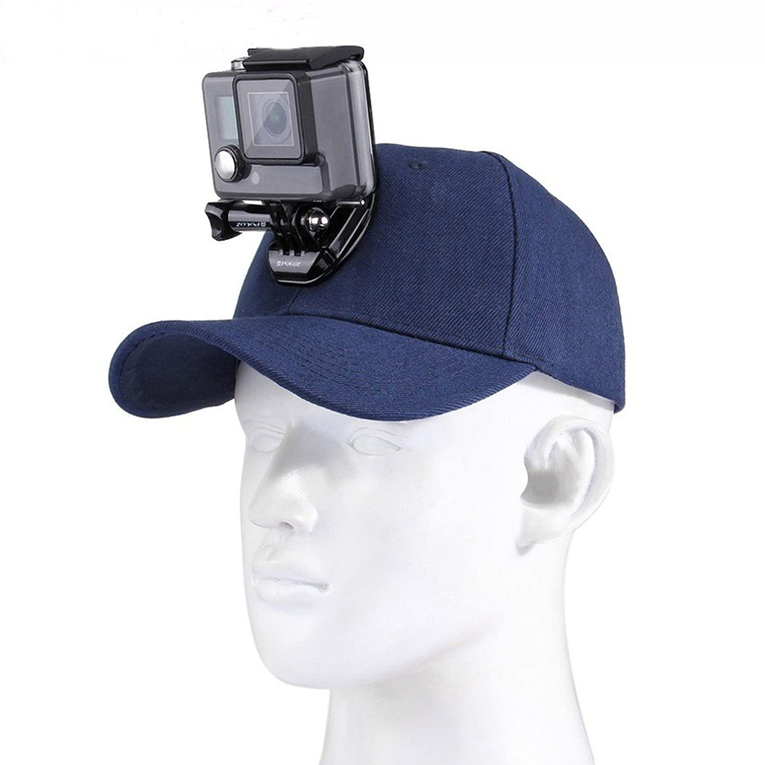 JointVictory Sun Hat with J-Hook Buckle Mount & 1/4 Screw for All GoPro Session Hero 6 5 4 3 2 1, SJCAM and Xiaoyi Cameras (Blue)
