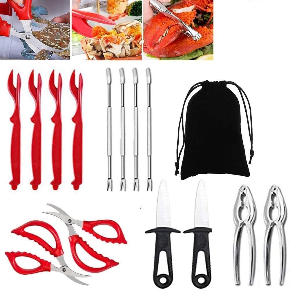 Seafood Tools Set OFFicial store Crab Lobster and Credence Crackers C Leg Picks
