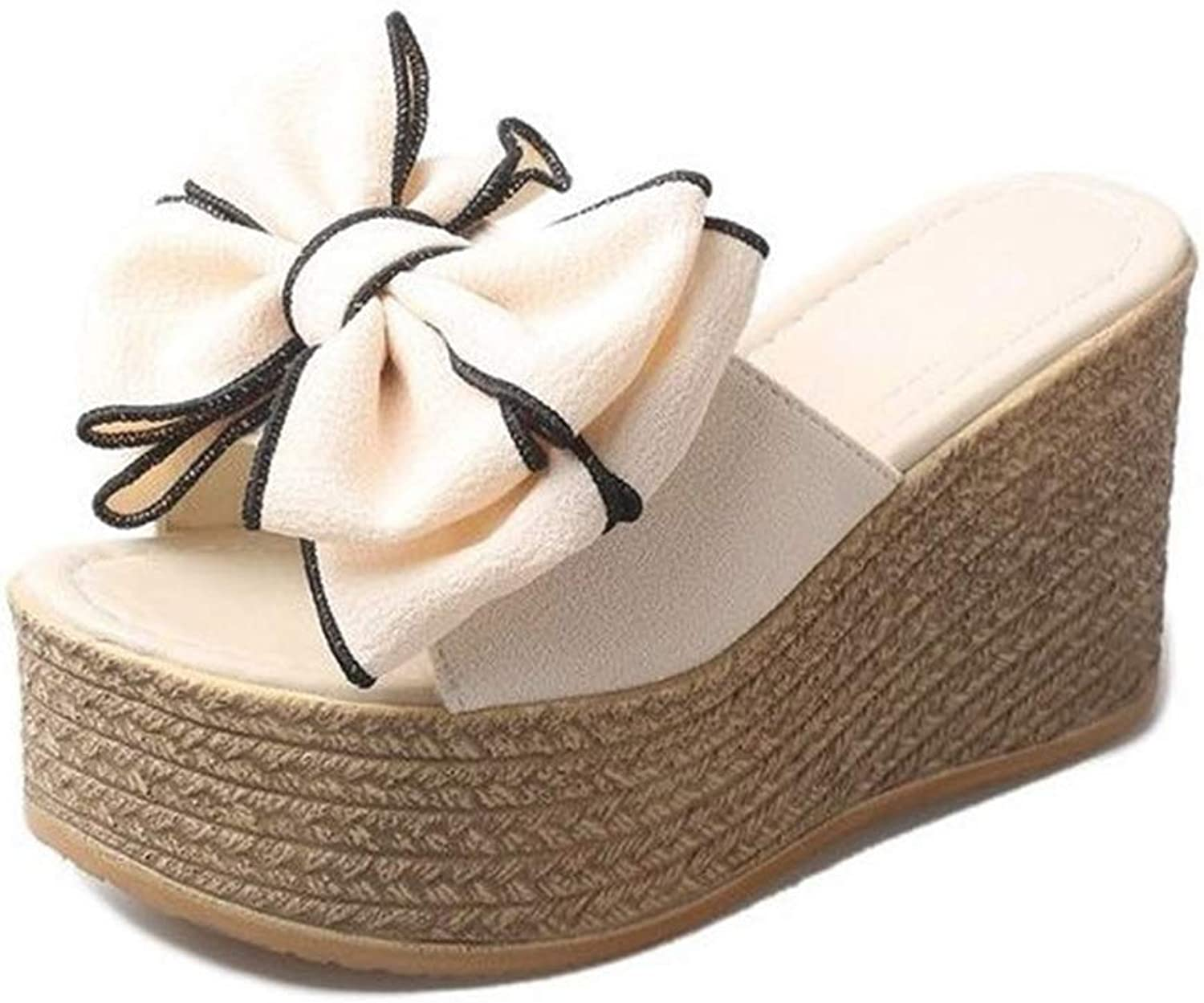 T-JULY Summer Women Slippers Summer Ladies Slippers for Family Butterfly-Knot Women shoes Antiskid Female Sandals Women