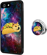 Case for iPhone 6s Plus 6 Plus Tacos Doge Anti-Scratch Hard Backplate Back Cover with Ring Holder for iPhone 6s Plus 6 Plus Black Shock-Proof Protective Case [Anti-Slippery]