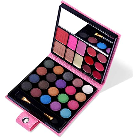 All in One Makeup Kit - 20 Eyeshadow, 6 Lip Glosses, 3 Blushers, 2 Powder, 1 Concealer, 1 Mirror, 1 Brush, Make Up Gift Set for Teen Girls, Beginners And Pros