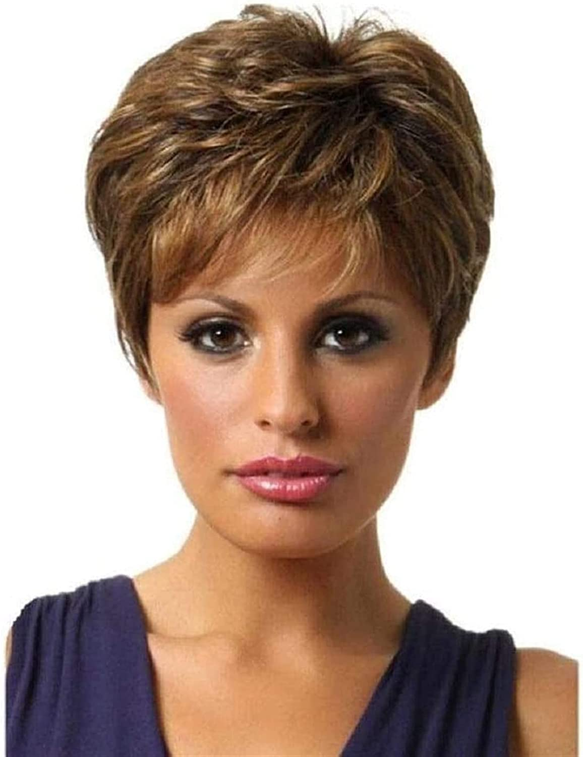 LCNING Max 58% OFF Wig Wigs Spring new work one after another Slightly Fluffy Ombre Curly Women Blo Short