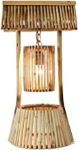 MXD Simple Creative Hand-Woven Wooden Table Lamp Rustic Style Living Room Pure Wood Desk Lamp Bedside Bedroom Study Room P...