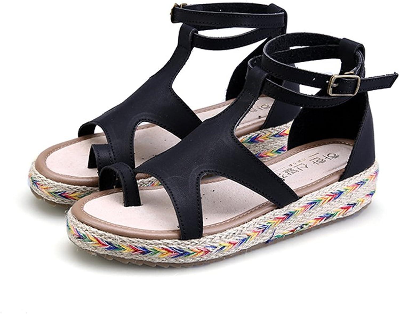 Smart.A Lady Platform Sandals Peep Toe Ankle Strap Sandals