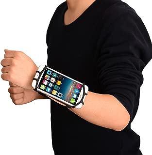edtara pulsera universal para teléfono celular brazo Funda para hacer ejercicio deportes, correr, Smartphones antebrazo, color negro
