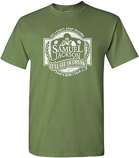 Samuel Jackson Beer - Mens Cotton T-Shirt