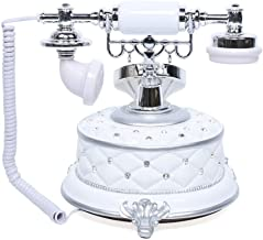 $79 » TFCFL Vintage Telephone,European & Americain Style Telephone, Antique Rotary Dial Plate Antique Landline Phone,Support Ele...