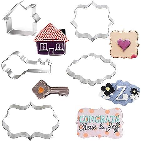 housewarming cookie cutter set housewarming party House and key cookie cutters fondant cutter marzipan cutter