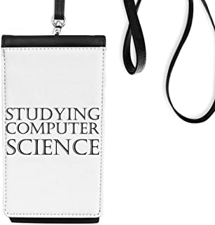 DIYthinkerShort Phrase Studying Computer Science Phone Wallet Purse Hanging Mobile Pouch Black Pocket