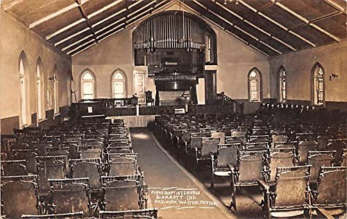 First Baptist Church postcard Indiana Garrett We NEW before selling OFFer at cheap prices