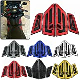 Repuestos Powersports Motocicleta Moto reposapiés Pasos del pie for YAMAHA TMAX 530 TMAX530 TMAX 530 2012 2013 2014 2015-16 tampones de reposapiés Clavijas (Color : Silver)