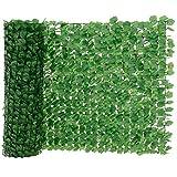 [neu.haus] Valla de hojas artificiales (100 x 300 cm) PVC Protector visual y contra el viento - resistente