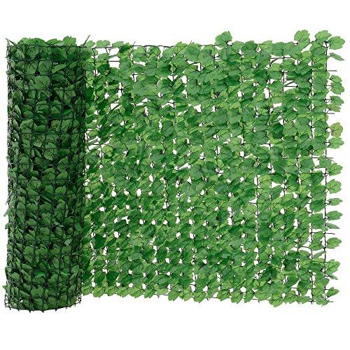 [neu.haus] Blätterzaun (100 x 300 cm) Sichtschutz/Balkon Umspannung/PVC Sichtschutz