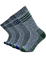 Men's 6 Pack Cotton Crew Socks Thick Work Boot Socks (10-13/Shoe: 6-12, Mix Color 7)