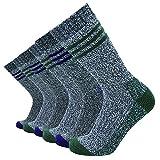 Enerwear-Coolmax Men's 6 Pack Cotton Crew Socks Thick Work Boot Socks (10-13/Shoe: 6-12, Mix Color 7)
