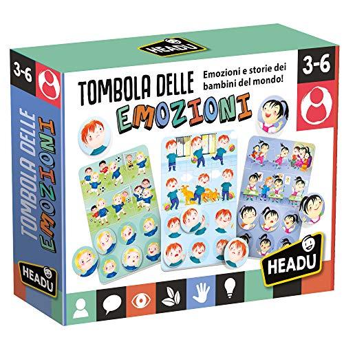 Headu - Tombola delle Emozioni - Gioco Educativo per Bambini dai 3 ai 6 Anni