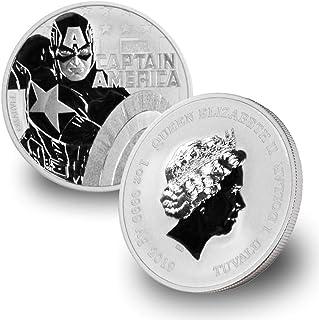 2019 TV Tuvalu 1 oz Captain America Marvel Series .9999 Fine Silver $1 Brilliant Uncirculated