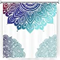 2-Count Gofupa Fabric Waterproof Decorative Shower Curtain with 12 Hooks