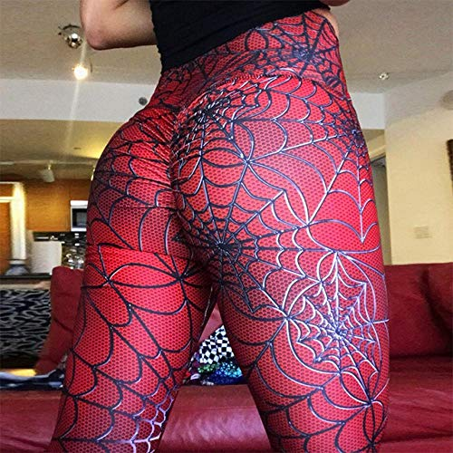 Frauen Leggings Hohe Elastische Yogahosen Spider Line Printing Frauen Fitness Legging Push Up Hosen Kleidung Sporting Leggins