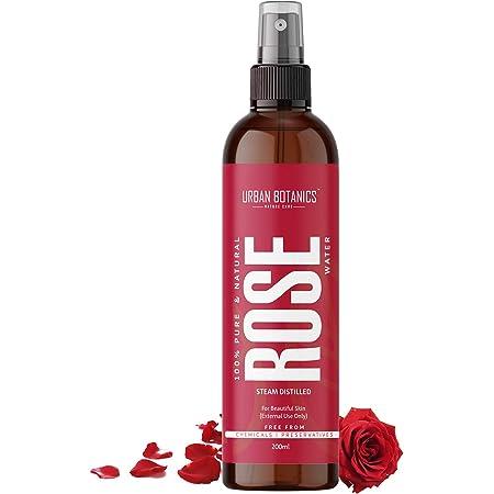 UrbanBotanics® Pure & Natural Rose Water/Skin Toner - 200ml - Steam Distilled - Gulab Jal - Organic - Chemical Free