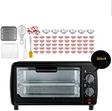Tente 9 L Chauffage rapide Grille-pain four à 230 °C avec fente de minuterie et plateau pour cuire, mini four électrique e...