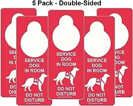 Amazon.com: Perro de servicio en habitación – No Molestar ...