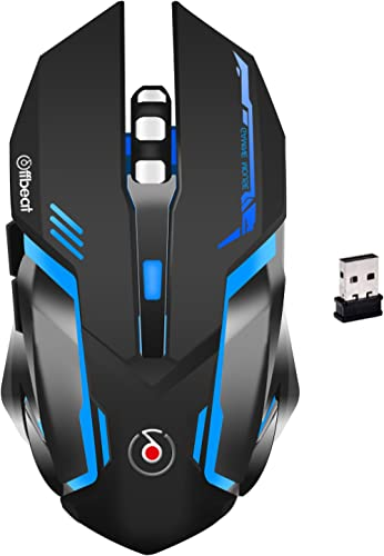 Offbeat RIPJAW 2.4Ghz Rechargeable Wireless Gaming Mouse, Silent Click Buttons Mouse - 7D Buttons, DPI : 1600,2400,32...