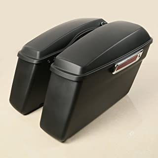 XFMT Matte Hard Saddle Bags Trunk + Latch keys Lid Compatible with Harley Touring Glide 2014-2018