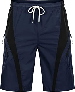 BIYLACLESEN Men's Athletic Shorts Quick Dry Hiking Pants with Zipper Pockets for Running,Cycling,Gym