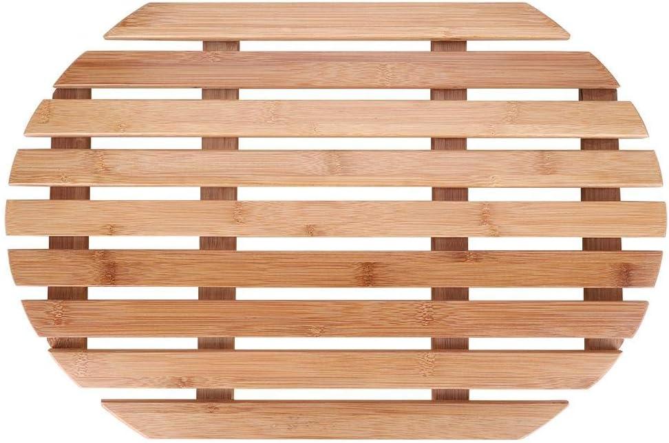 HENGHUAsm Slip-Proof Mat Cushion MatComfortab 25% OFF Bamboo Direct stock discount Oval