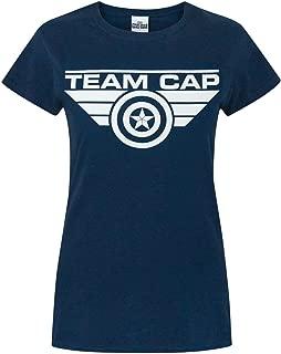 Vanilla Underground Captain America Team Cap Women's T-Shirt