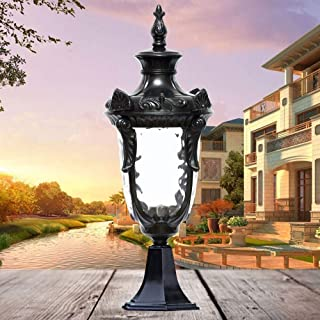 Beautifully Decorated Lamps/Antique Metal Outdoor Garden Floor Lamp Columns Driveway Bollard Light Palace E27 Die Casting ...