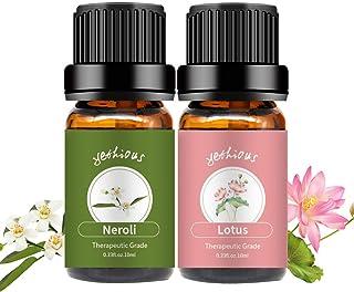 yethious Neroli Lotus Essential Oil Set 100% Pure Aromatherapy Gift Oils Kit Organic Therapeutic Grade 2 Pack Massage Oils