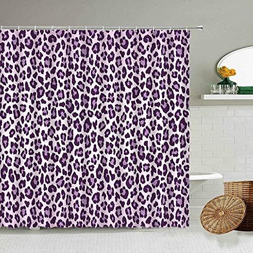 Afrikanischer Stil Leopard Muster Duschvorhang Wild Animal Print Badezimmer Badewanne Dekoration Geschenk wasserdichte Vorhänge Bildschirm-11_90x180cm
