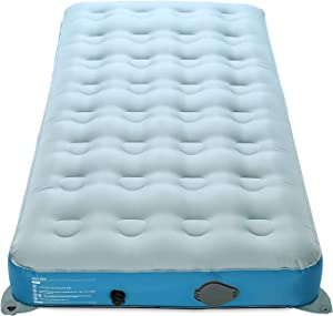 Valwix Twin Camping Air Mattress with USB Rechargeable Built in Pump - No-Leak Air Bed for Camp, Inflatable Blow up Bed w/ Portable Pump, Travel Bag for Tent Camping & Home, 400LBS Capacity