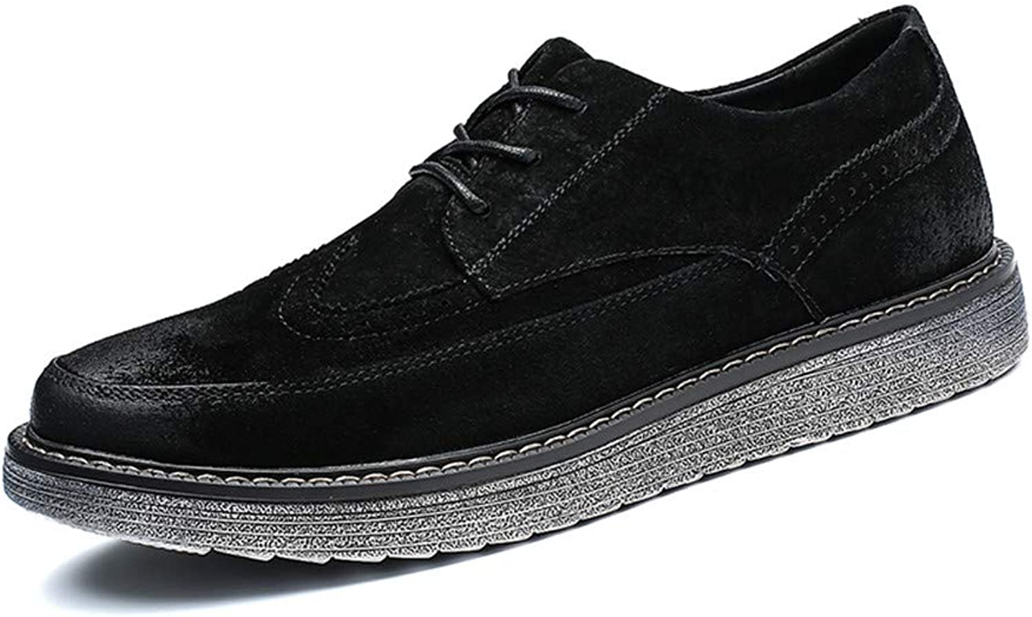 Xiaojuan-shoes, Men Oxford Business Casual British Outsole Enhanced Youth Retro Brogue shoes (color   Black, Size   8.5 UK)