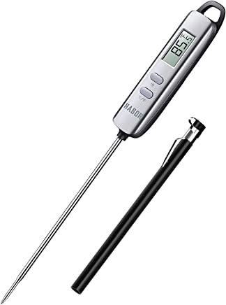 Habor 022 Meat Thermometer, FDA Approval 4.7 Inches Long Probe Thermometer Digital Cooking Thermometer with Instant Read Sensor for Kitchen BBQ Grill Smoker Meat Oil Milk Yogurt Temperature