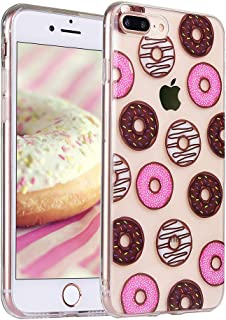 COSANO iPhone 8 plus case, iPhone 7 plus case with Dount Food Dessert Design Slim Fit [Hard PC Back + Shock Absorbing Soft Bumper] [Scratch-Resistant] Ultra Thin Transparent Protective Case (Dount 8+)