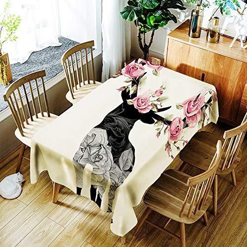 Tafelkleed Retro sleutelzakhorloge Licht Luxe Mode Thuis Spatwaterdicht en afwasbaar tafelkleed (rechthoekig, polyester, 55 x 78 inch)