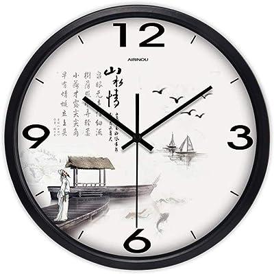ZWD Tienda de Juguetes Reloj de Pared silencioso, Campus Salón de ...