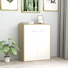 GTLX Sideboard Minimalist Home Living Room Bedroom Office Storage Cabinet Side Cabinet Buffets Furniture White and Sonoma ...