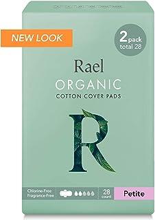 Rael Organic Cotton Sanitary Pads - Petite Size, Light...
